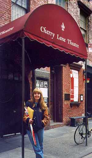 Gilmer McCormick standing in front of Cherry Lane Theatre