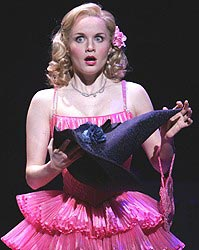 Kate Reinders in Wicked as Glinda