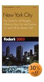 Photo - book cover of 'Fodor's New York City 2003'