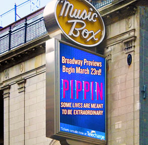 Pippin on Broadway marquee 2013
