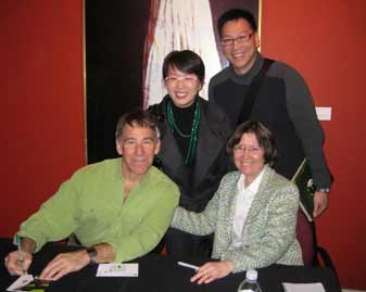 Stephen Schwartz at book signing in San Francisco with Carol de Giere and fans