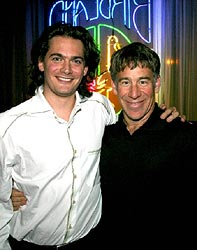 Peter Sachon, cellist and Stephen Schwartz, composer.