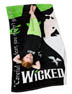 Wicked beach towel with witches of Oz faces