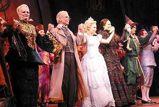 Wicked cast in costume