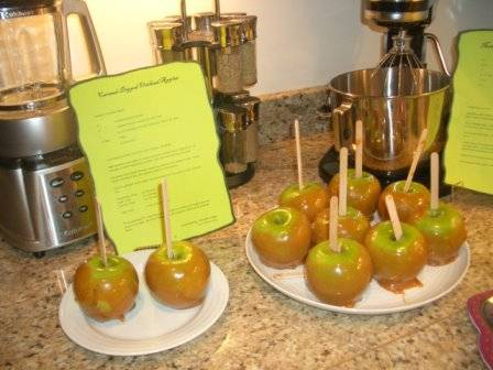 Carmel Apples on display at Wicked the musical party