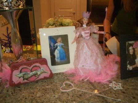 Glinda display for Wicked party